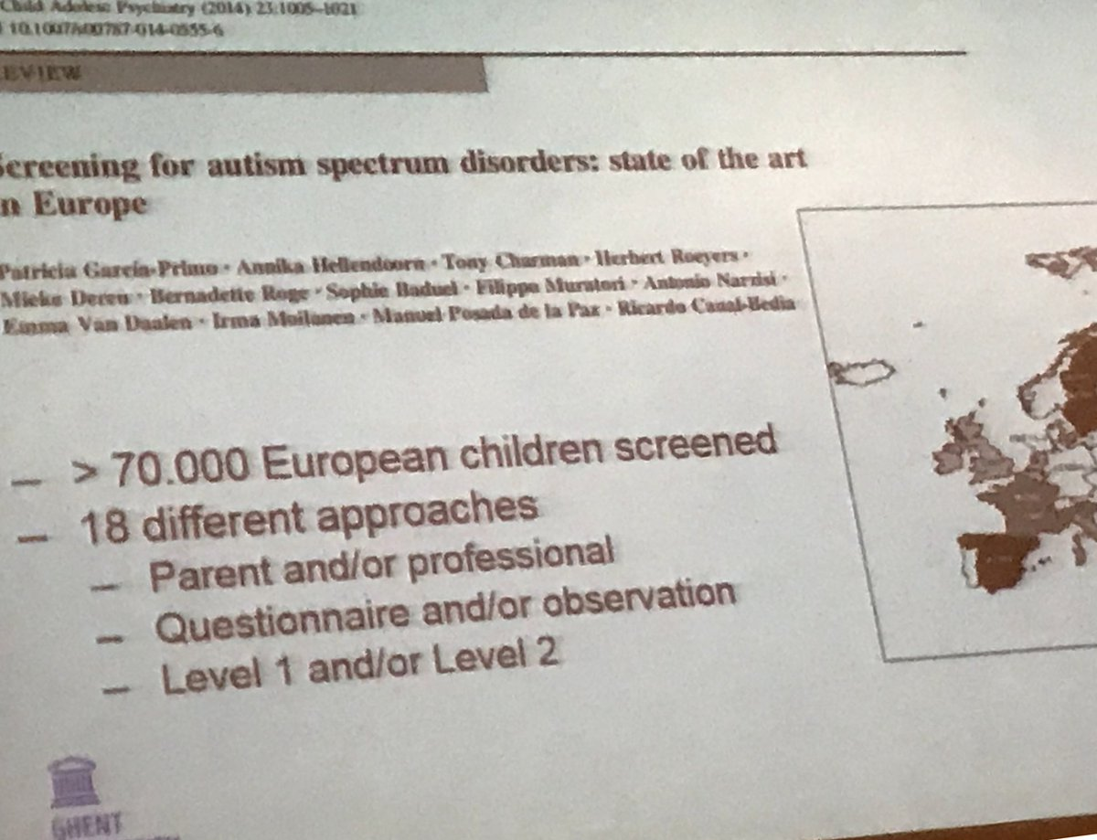 Screening For Autism Spectrum Disorders State Of The Art In Europe >> Alexis Dewaele On Twitter Prof H Roeyers Early Screening