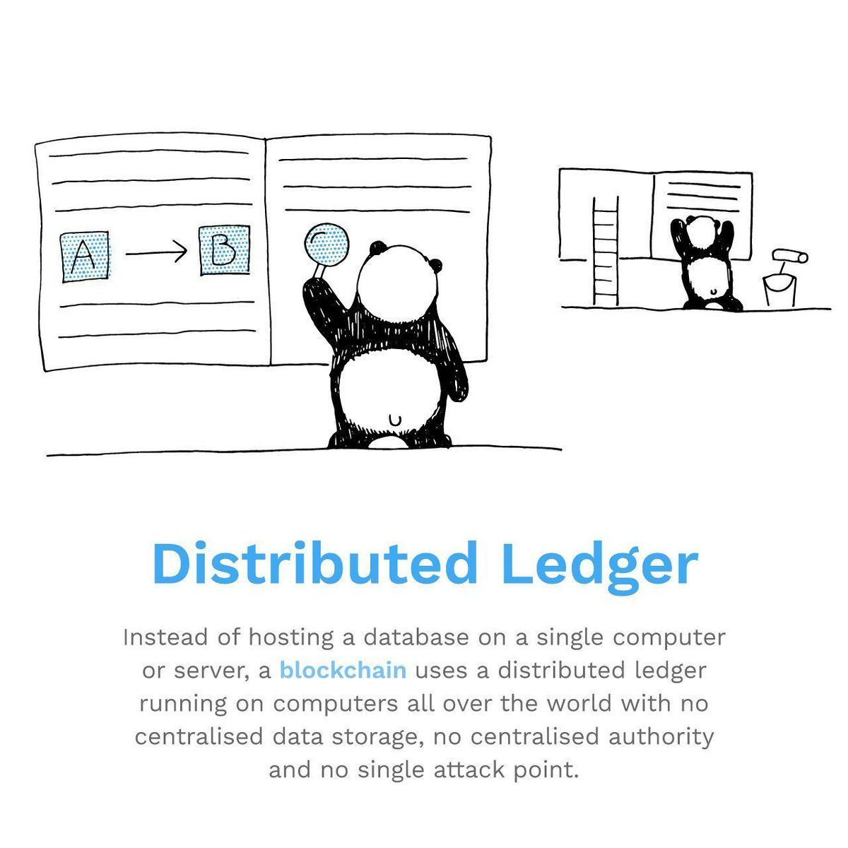 D is for Distributed Ledger, all those transaction records need to be kept somewhere! In our ongoing series you will learn the most important terms about Bitcoin and Blockchain #bitpanda #blockchain