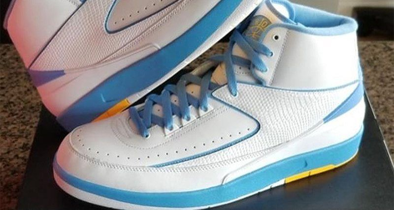 quality design 7e9e0 a378a carmeloanthony s Denver Nuggets inspired Air Jordan 2 will be making its  way back to retail this year http   bit.ly 2rPoh0i  pic.twitter.com xJ20Qukz2x