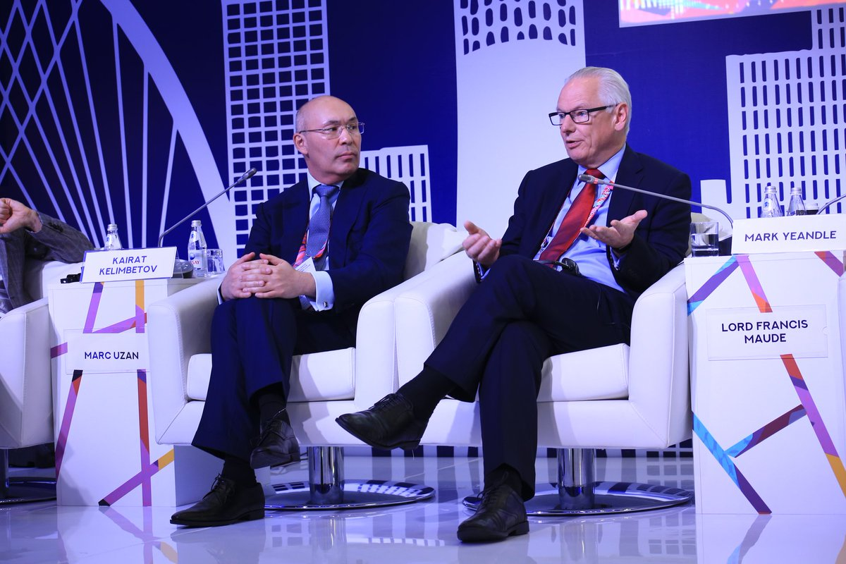 Former Minister of Trade of Great Britain, Lord Maude: &quot;The development of #AIFC is a very strategic move. English language,  English common law jurisdiction and geographical position are beneficial factors for developing AIFC&quot;. #AstanaEconomicForum #GlobalChallengesSummit2018<br>http://pic.twitter.com/Y8fNplXq6r