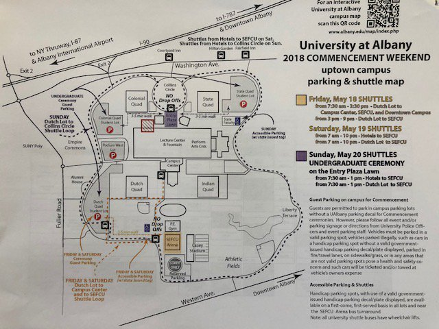 Ualbany Downtown Campus Map.Ualbany Park Trans On Twitter Helpful Commencement Parking Mass