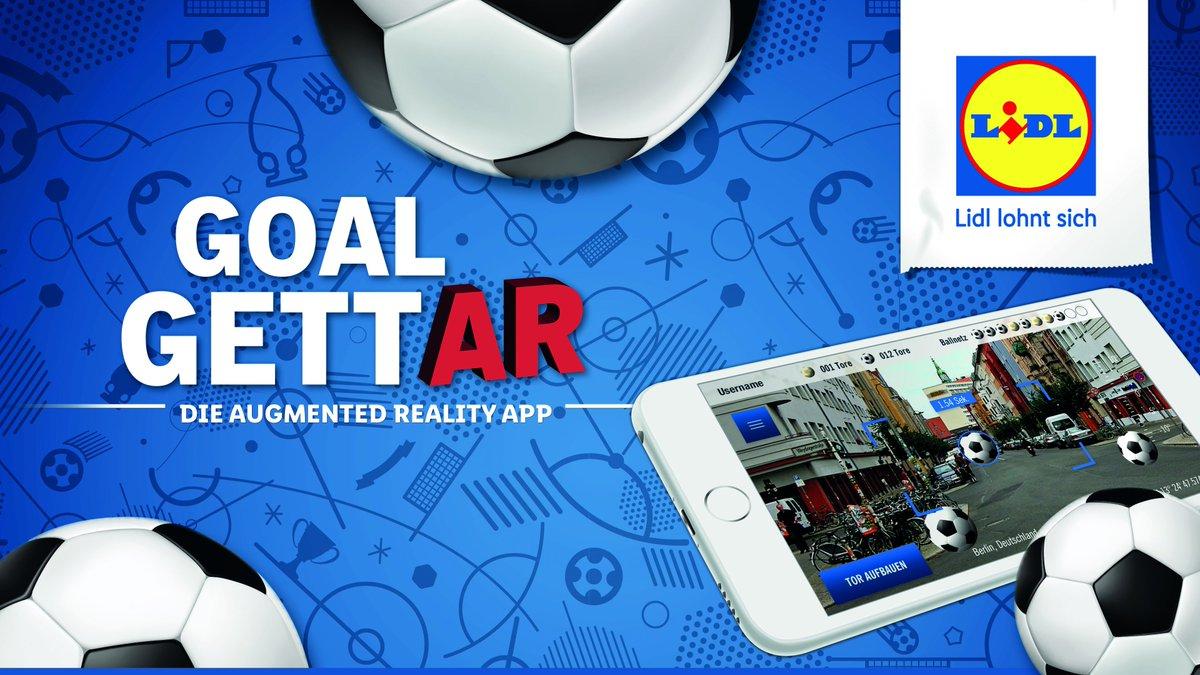 """... Augmented-Reality-App von #Lidl zur Fußball-WM. """"GoalgettAR"""" bietet  realistisches Spielvergnügen, exklusive Prämien und Gewinnspiele."""