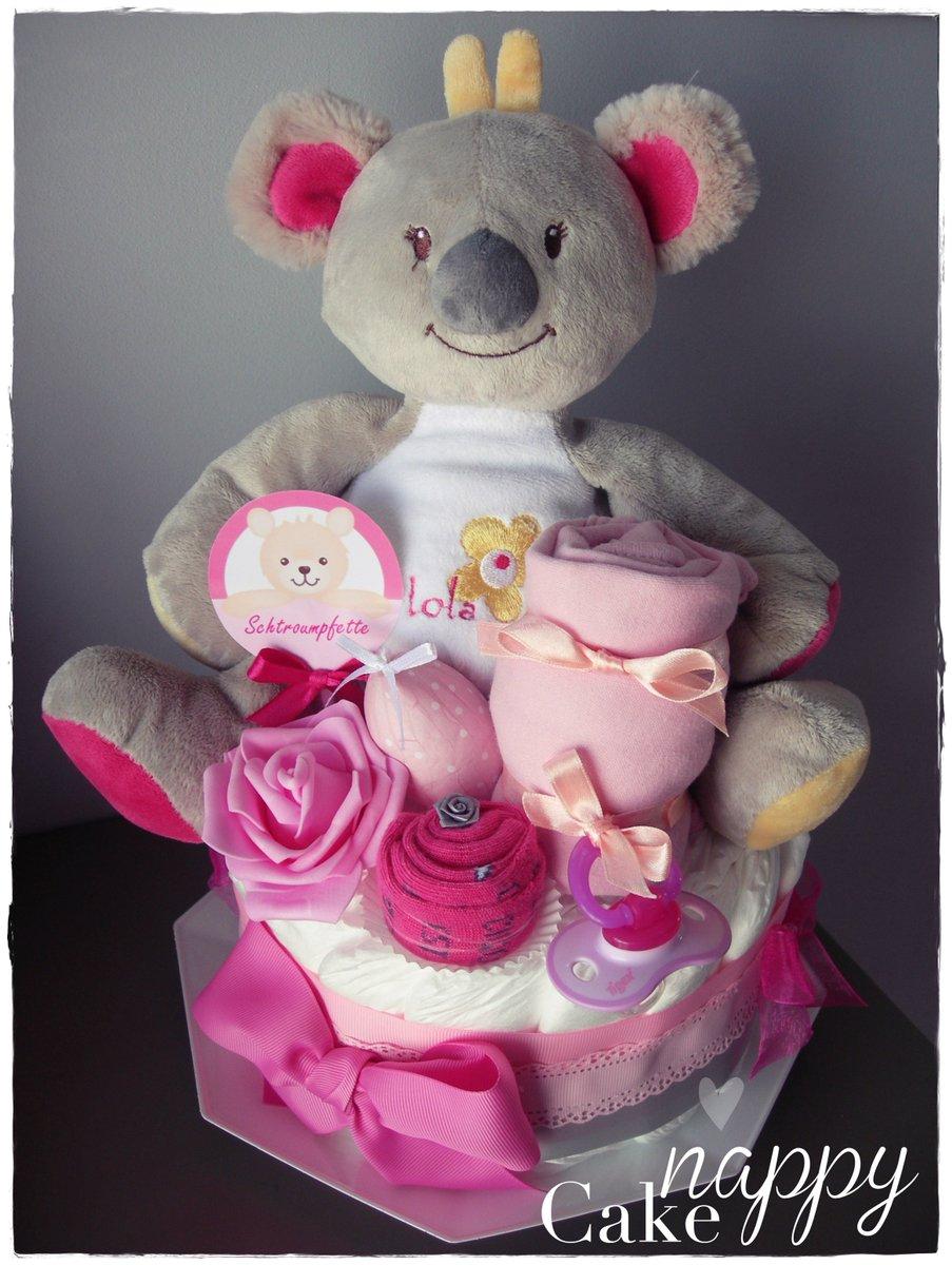 Nappy Cake Ar Twitter Gateau De Couches Koala Rose Gris Nappycake