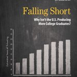 """Why is the United States not producing more college graduates, especially in light of the large and persistent wage gap between workers who graduate from college and those who do not? Read """"Falling Short"""" in our 2017 Annual Report.  https://t.co/I9oMf7oks6"""