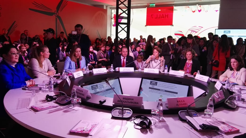 """Today, Ambassador Nicholas Brousseau participated as a keynote speaker at """"Rights instead of privileges. How can women's leadership affect the modern world?"""" Roundtable in the Astana Economic Forum. #aef #aef2018 <br>http://pic.twitter.com/5ovMFVnhVB"""