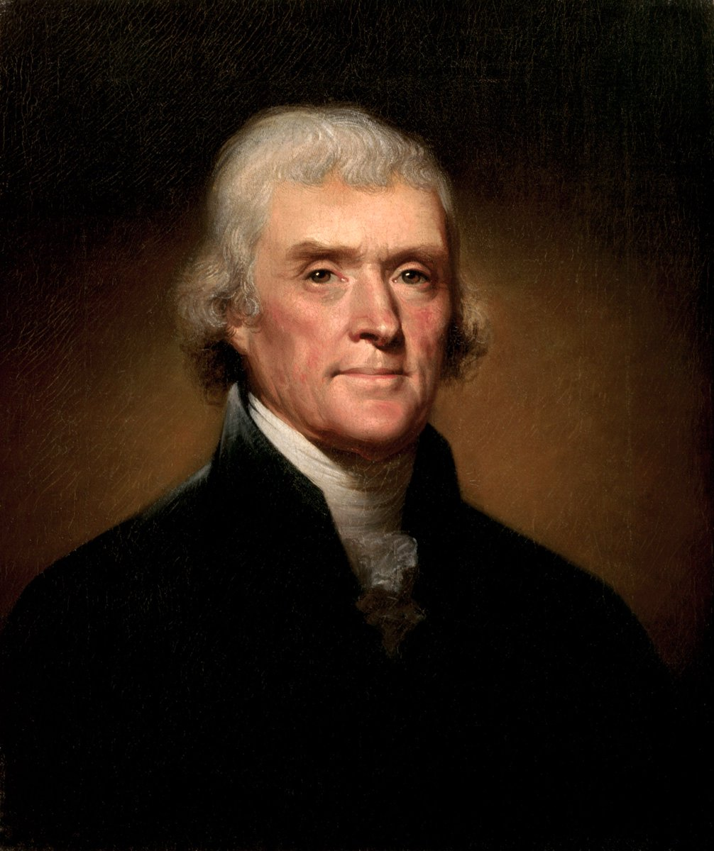 The U.S. tradition of celebrating #Ramadan dates to 1805, when President Jefferson hosted the first White House Iftar for the Tunisian diplomat Sidi Soliman Mellimelli.