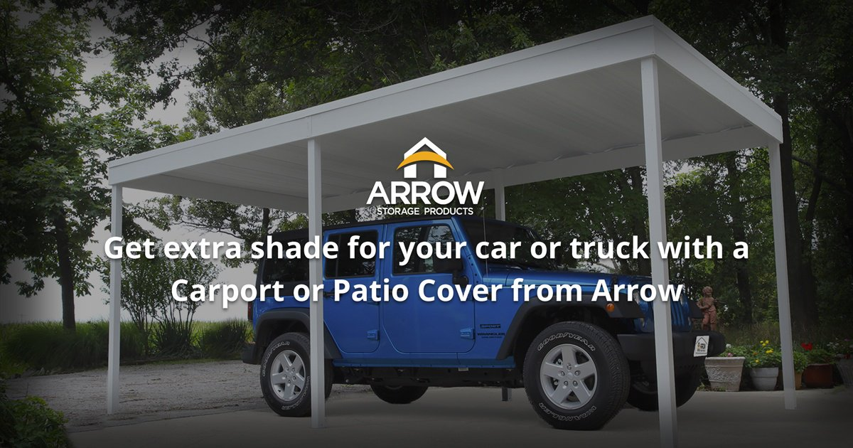 Use The Attached Or Freestanding Arrow Patio Cover/Carport For Extra Shade  And Shelter That Offers Superior Durability And Weather Protection.