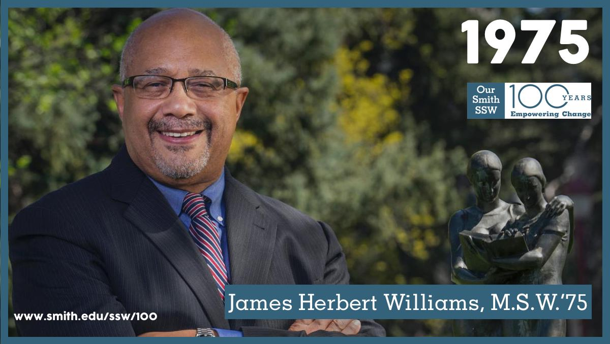Smith College Ssw On Twitter James Herbert Williams Msw75