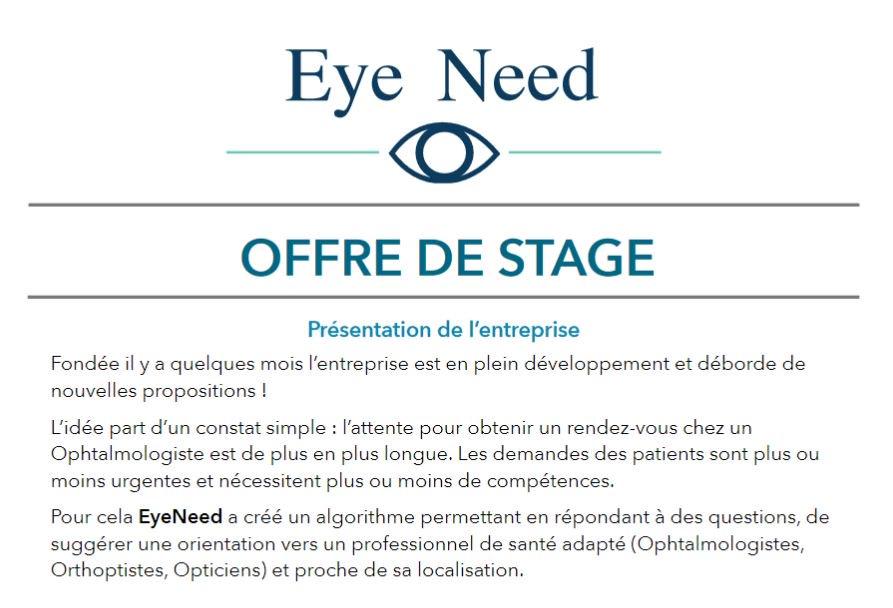 🔎 Notre incubé @projetEyeneed recherche un #stagiaire en #BusinessDevelopment ! #stage #bizdev #Rouen #Normandie https://t.co/sEQjqzmEaS https://t.co/2SorID7lUJ