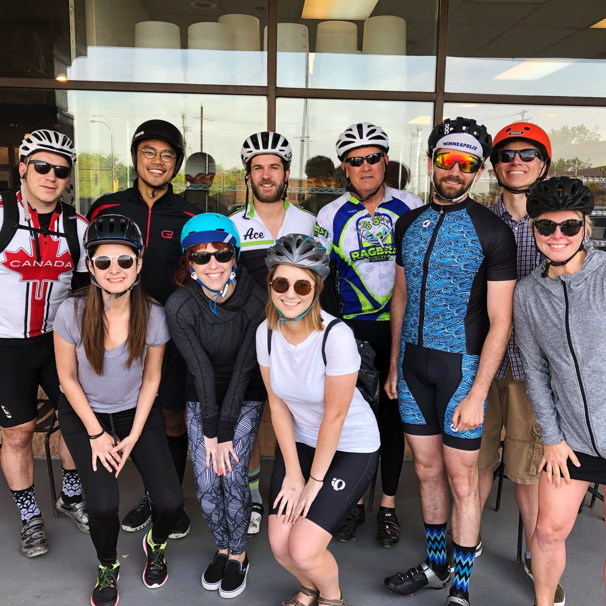 Kits zipped and helmets on. #BikeToWorkDay is the best way to start a Friday. Let's ride!