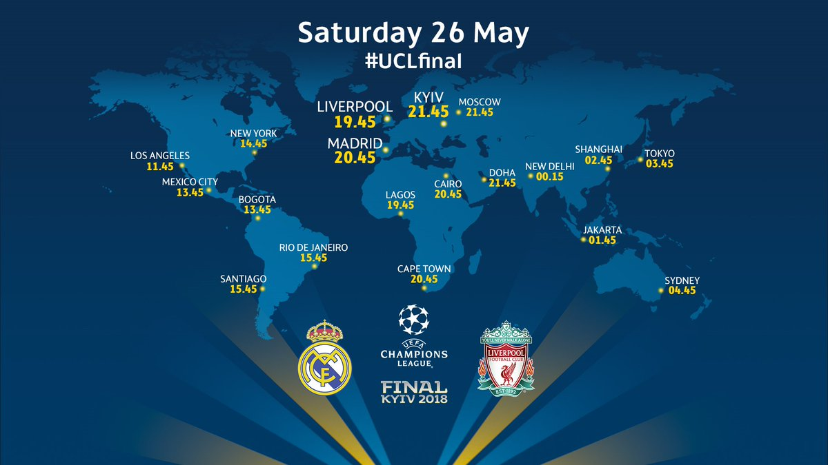 🌎 Real Madrid v Liverpool: Where in the world are you watching the #UCLfinal? 🌍 https://t.co/hVXQ1MNoyu