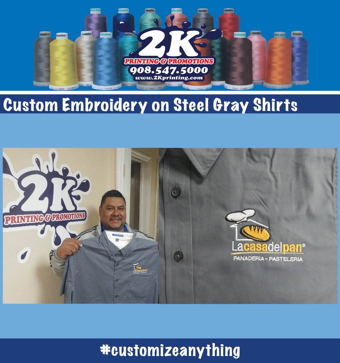 489d58e5 When it comes to #embroidery on #polos #hats #dressshirts #totes and more,  2K can #customizeanything with your logo.pic.twitter.com/6HI5tckeot