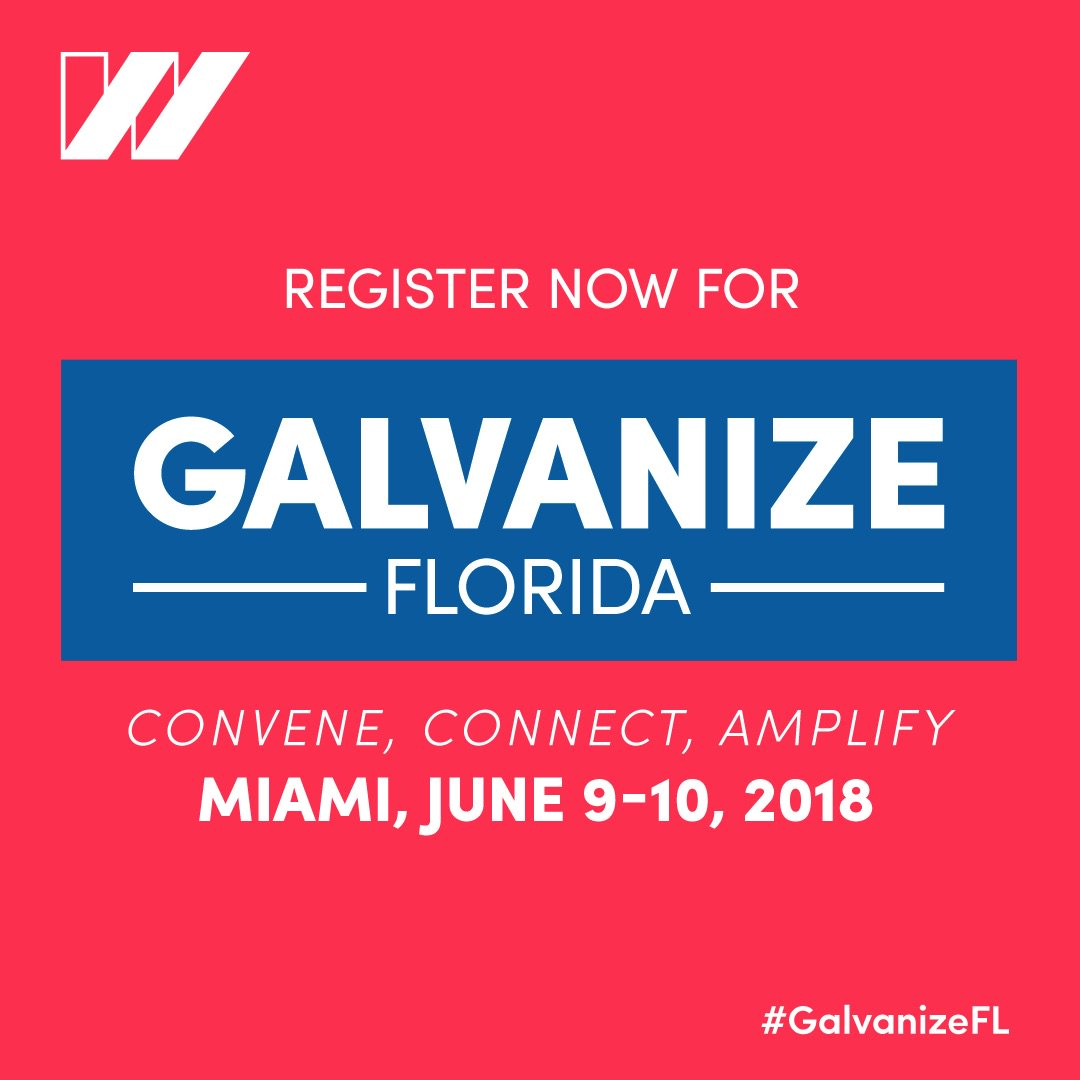 .@USOWomen is coming to Miami June 9-10, 2018 for #GalvanizeFL. Register now and learn what you need to take action in your community. Together, lets convene, connect and amplify each other across the nation! bit.ly/GalvanizeFL