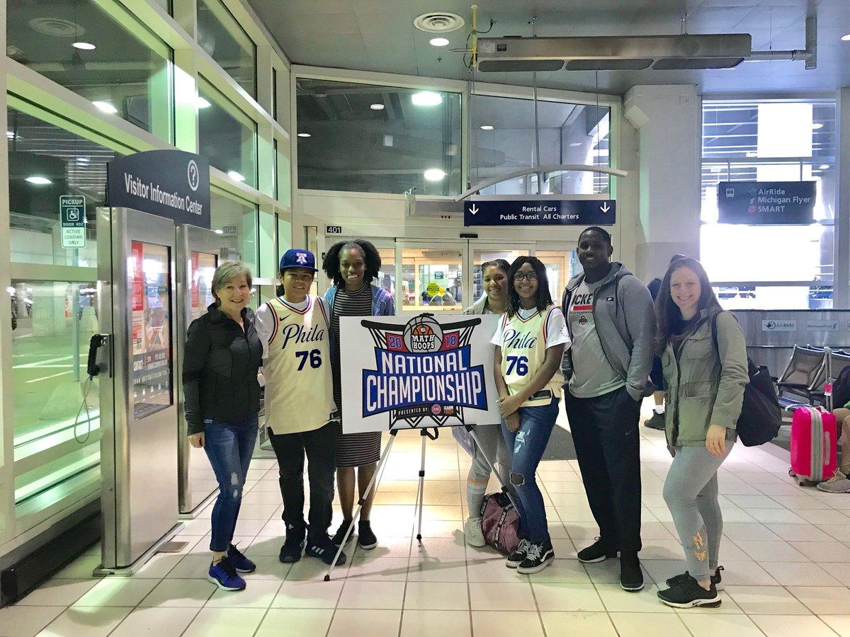 @southwarkschool 7th Grade 🐉 arrives in Detroit!  Good Luck @SIXERSSTRONG @NBAMathHoops @Melanie_Lanae