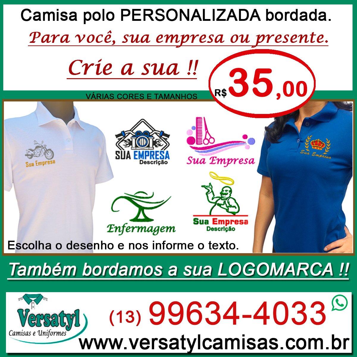 b69030449c Camisa Polo Uniformes. Versatyl Camisas Personalizadas on Twitter