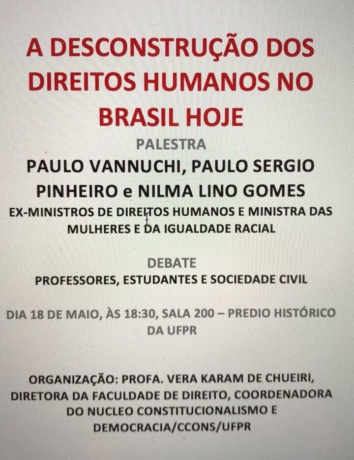 Hoje, em Curitiba.