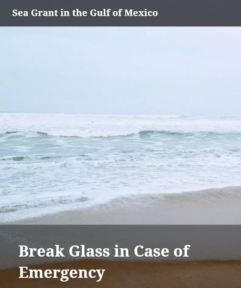 """test Twitter Media - The Sea Grant Oil Spill Science Outreach seminar """"Break glass in case of emergency,"""" which details what to expect in response to a major oil spill, is now available online. @MSALSeaGrant @FloridaSeaGrant @LASeaGrant @SeaGrant  Check it out here: https://t.co/beagp1zDcw https://t.co/Z57SH2hCSV"""