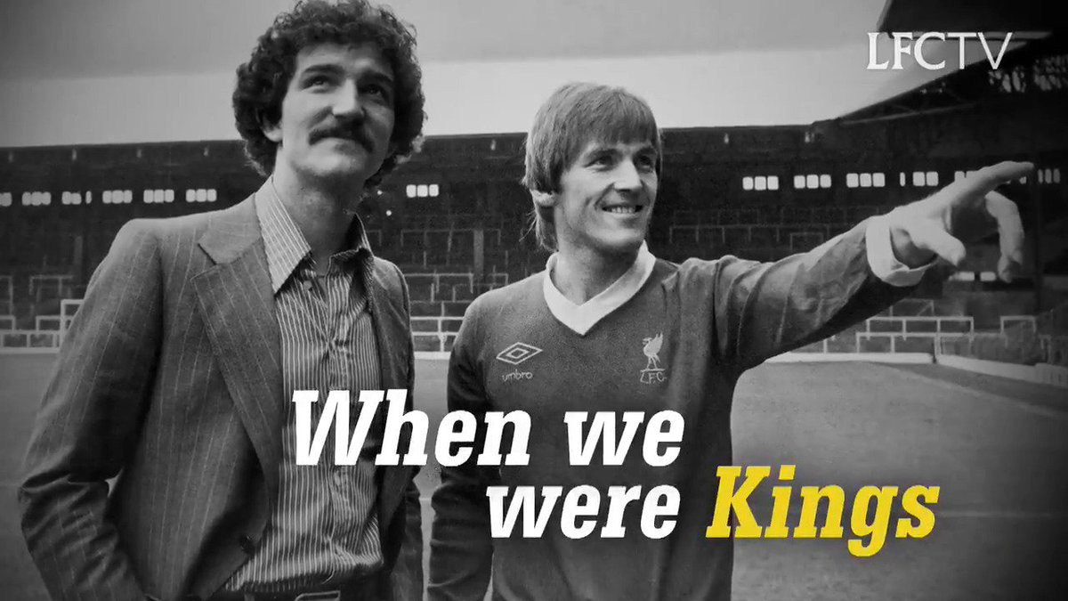 👑 Kenny Dalglish and Graeme Souness reminisce about their European glory days in @LFCTVs When We Were Kings documentary. 👑  Catch the premiere on Monday at 21:00 BST ➡️ lfc.tv/AQga