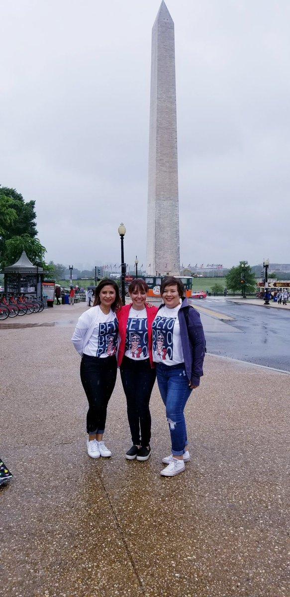 Touring rainy DC in our @RepBetoORourke shirts! #betoforsenate