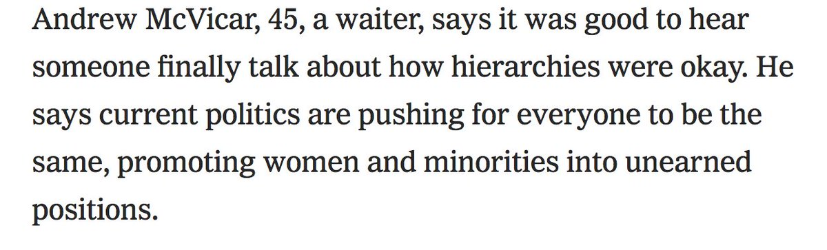 It's always adorable when white men think it's women and people of color who are in unearned positions.