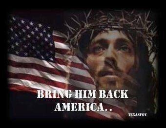 america Bring into god back