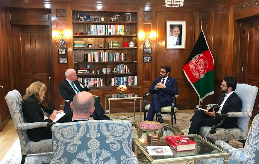 Amb. @hmohib met with Sweden Special Advisor for PAK & AFG, Amb. Lennart Linnér. They discussed the recent situation of #AFG, the peace process and coming election. Amb. Mohib thanked the government of #Sweden for the 78 years of support and cooperation.