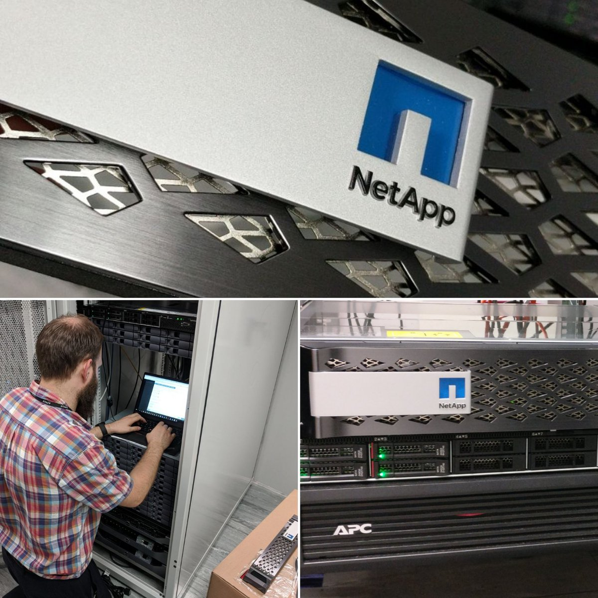 The perfect way to end Friday 2x @NetApp E-Series install done. Don't let the 2U size fool you these little E-Series boxes offer affordable performance and are simple to setup and use. Perfect as a @veeam backup destination. @svennerski #NetAppATeam #DataDriven