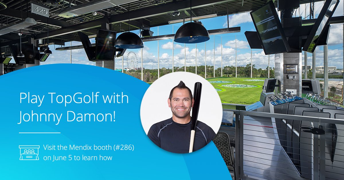 We can't wait to Par-Tee down with our clients and partners @Mendix and the @sapcp teams during #SAPPHIRENOW!  DM for details on this exclusive TopGolf event with Johnny Damon!