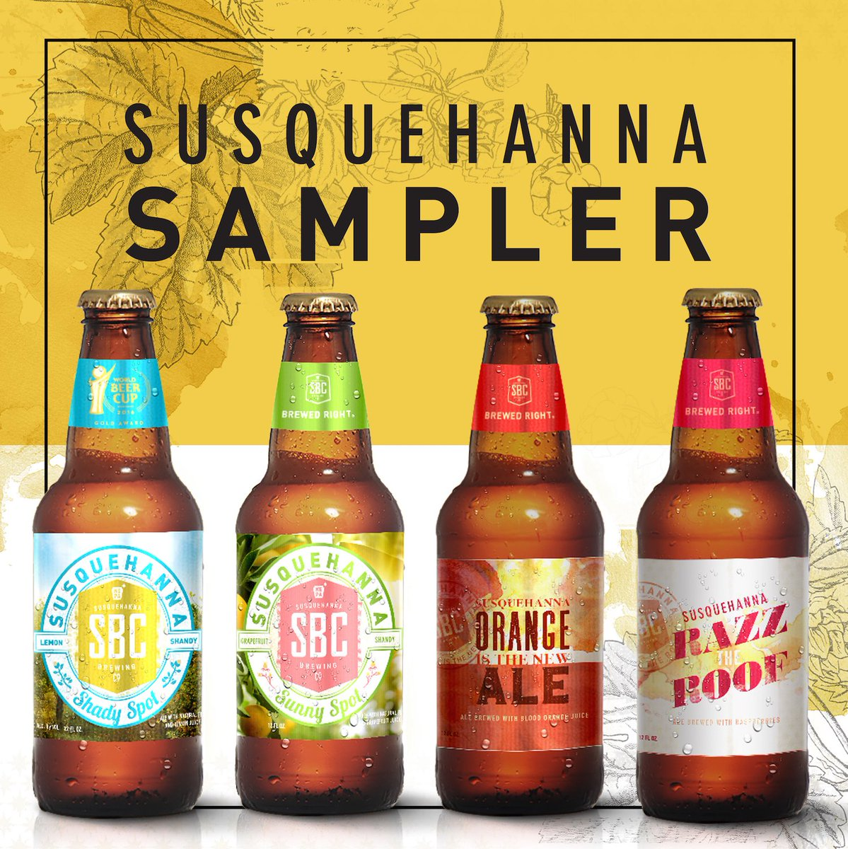 Three Bottles Each Of Razz The Roof Orange Is New Ale Sunny Spot And Shady Pick Up Our Sampler Wherever You Good Beer Pic Twitter