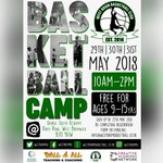 Image for the Tweet beginning: FREE basketball camp over may