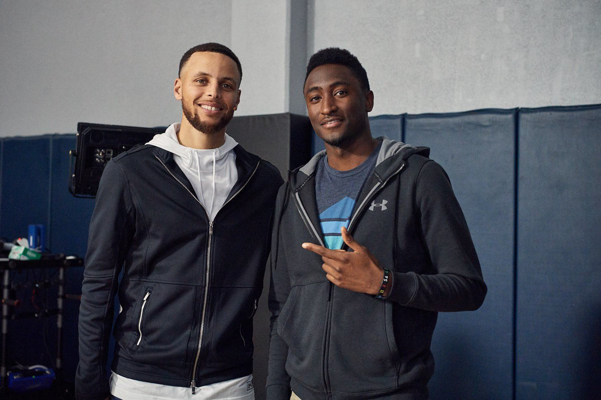 Made my acting debut, if you want to call it that. So dope working with this guy. Good luck in these playoffs, Steph! @StephenCurry30