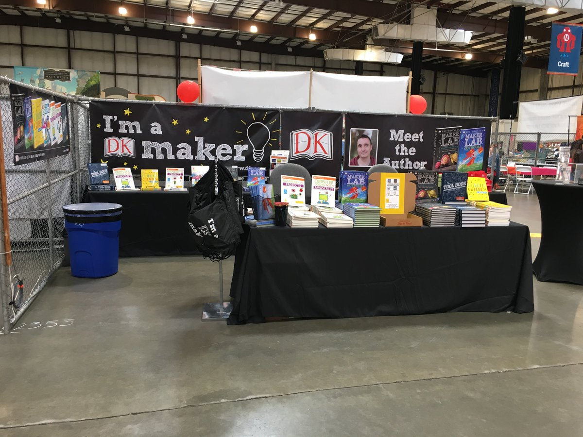 Ready for @makerfaire this weekend? Our booth in Zone 2 is primed for science! Drop by all weekend for giveaways and be sure to check out @Jack_Challoners talk on Saturday via the Make: Live stage. #mfba18