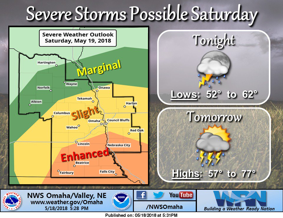 Severe weather possible Saturday afternoon/evening #newx #iawx
