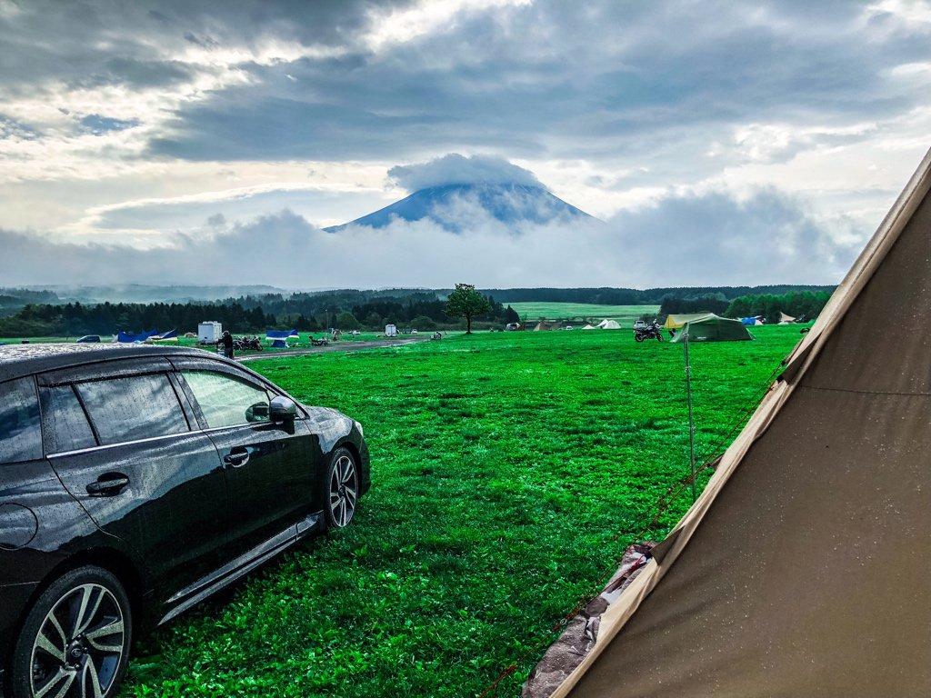 'ロ')ノ🗻 おはようさん。夜中の風雨が凄かったけど、今日は見えるね、富士山