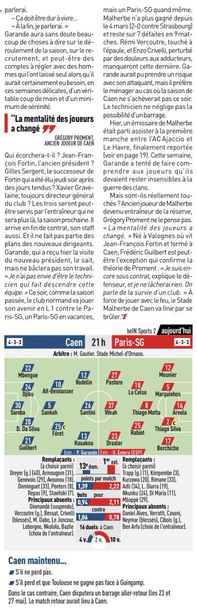 [38e journée de L1] SM Caen 0-0 Paris SG Ddg3M7HWAAADVLf