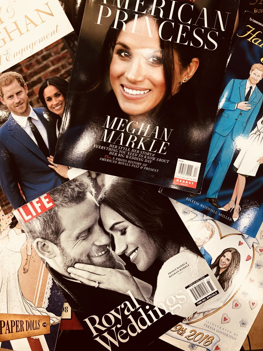 Only a few hours until The #RoyalWedding!!! So get your tea, get your crumpets and get your big ol' hat! Plus stop on by and check some of the great merch we have commemorating this happy event. Cheers! @BNBuzz #HarryandMeghan