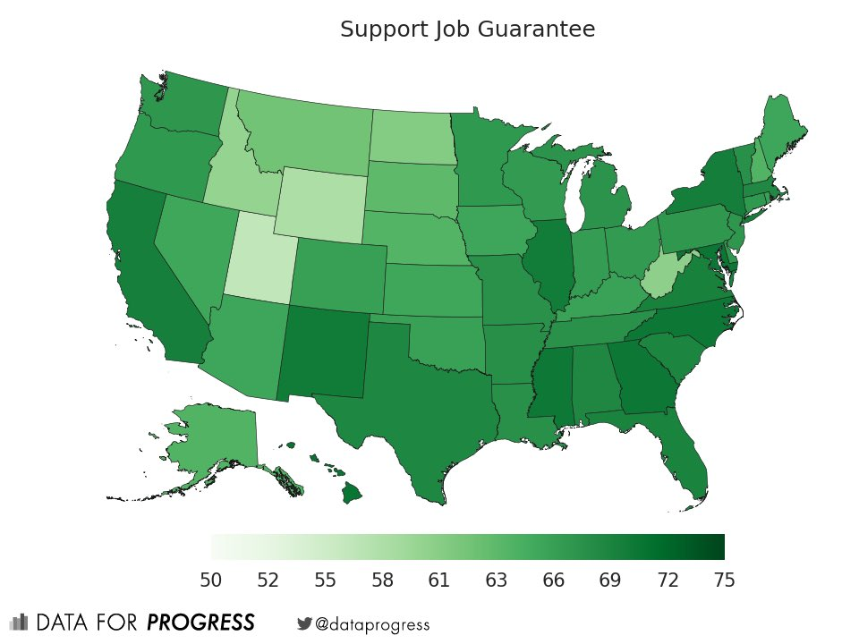 "I haven't seen polling on ""five year plans,"" but a job guarantee is broadly popular. https://t.co/HM9zdUgWIh"