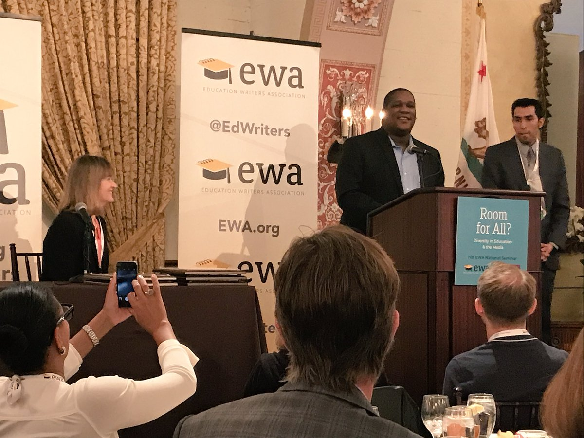 A much deserved honoring of @D_Aarons for his eight years of service to the @EdWriters board of directors. #badass #bawse #ewa18 <br>http://pic.twitter.com/9iBW3dm3jX