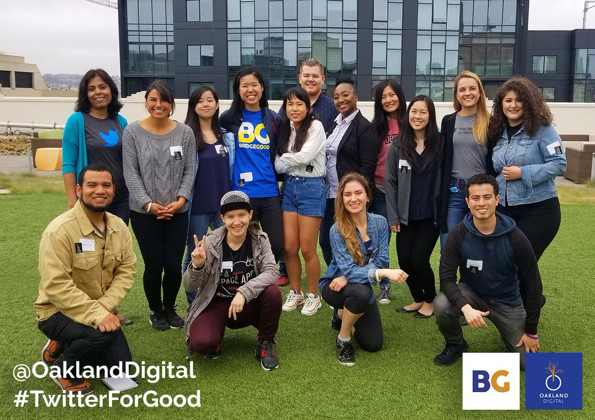 Grateful to @Twitter &amp; #TwitterForGood - key partners of @OaklandDigital since 2013. Each year we educate &amp; inspire 75+ design students from across the Bay Area with #DesignInTech #UX #UI #VisualDesign skills &amp; career options! Thank you from Team #OaklandDigital + #BRIDGEGOOD! <br>http://pic.twitter.com/VJowYDB2aM