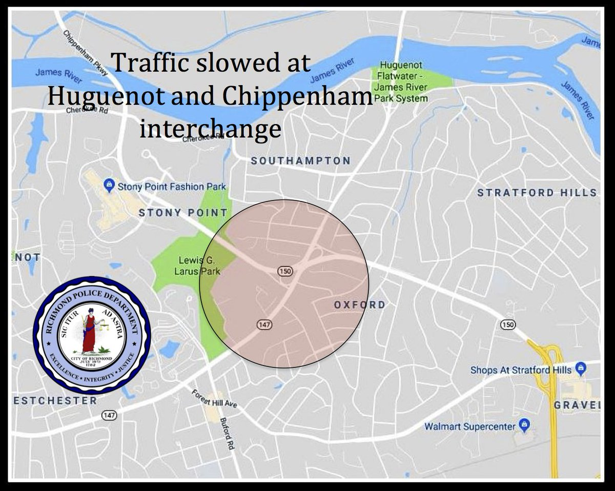 Richmond Traffic Map.Richmond Police On Twitter Traffic Alert Traffic Slowed At