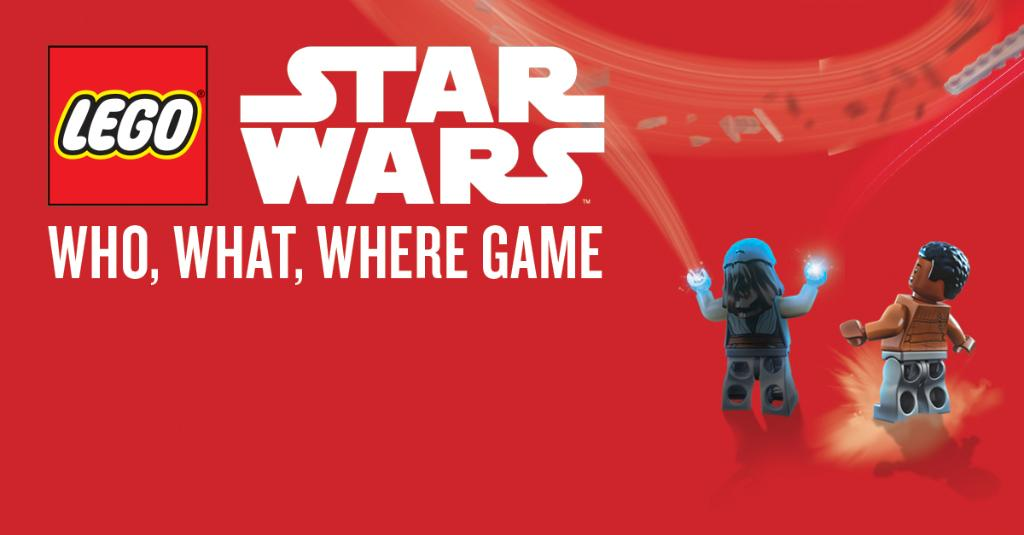 Calling all young LEGO & Star Wars fans: Join us on June 9th at 2 PM as we play the Star Wars: Who, What, Where game – available to play only at this event! At participating stores, contact your local store for details: spr.ly/6019D5tQ5