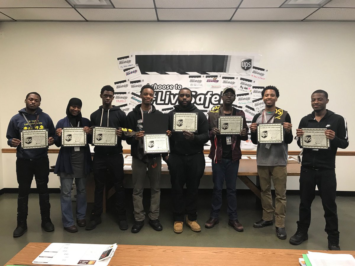 @JohnEitel2 UPS PHL TWI management would like to congratulate the following employees for earning Seniority: Charles Tomlin, Zion Blyden, Mark Conteh, Marquise Brown, Danny Davenport, LaTanya Jones, Hasan Moore & Brandon McNeil. Great to all.