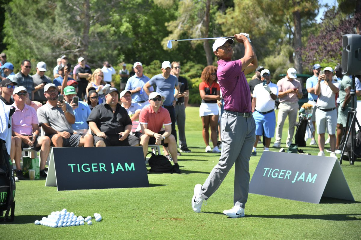 Fun time teeing it up for guests at Shadow Creek for the 20th #TigerJam today!