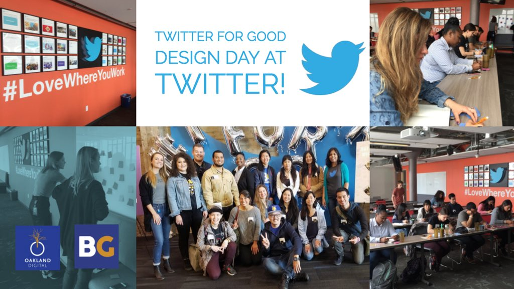Having our #BRIDGEGOOD students here at @TwitterSF - learning how to apply #UX Design techniques to real life situations. #OaklandDigital #TwitterForGood <br>http://pic.twitter.com/lmaTNQ0hNl &ndash; à Twitter HQ