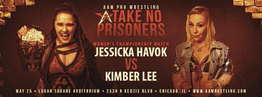 The AAW Womens Championship is on the line next Friday night at the Logan Square Auditorium. @FearHavok defends against @Kimber_Lee90  Get your tickets while you can at aawpro.ticketleap.com and @RecklessRecords in Wicker Park. #AAWTNP