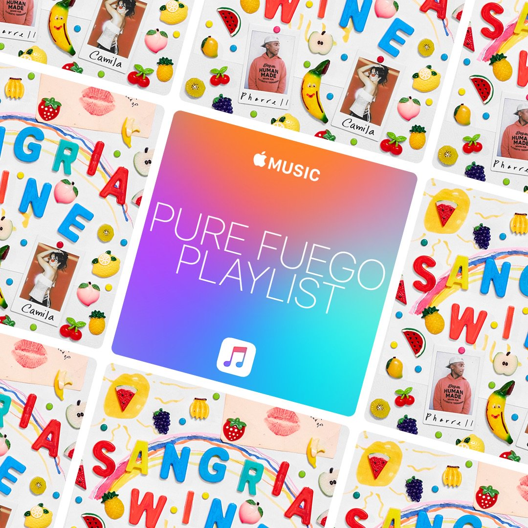 Listen to #SangriaWine������with @Camila_Cabello on the #PureFuego��Playlist on @AppleMusic: https://t.co/5cJ4coLkXX https://t.co/qYEWKGlpeg