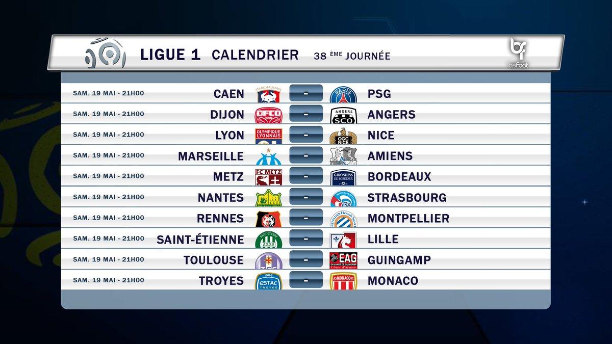 Calendrier Resultats Ligue 1.Befoot On Twitter Voici Le Calendrier Et Le Classement De