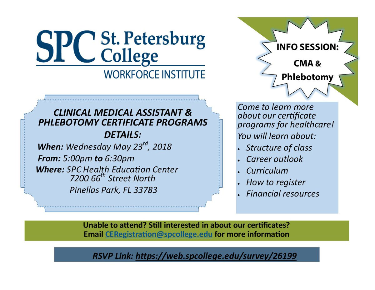 Stpetersburgcollege On Twitter Find Out More About The Clinical