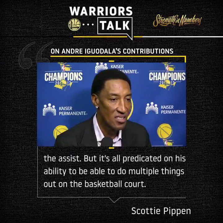 .@ScottiePippen with some praise for @andre's game after today's practice 🗣