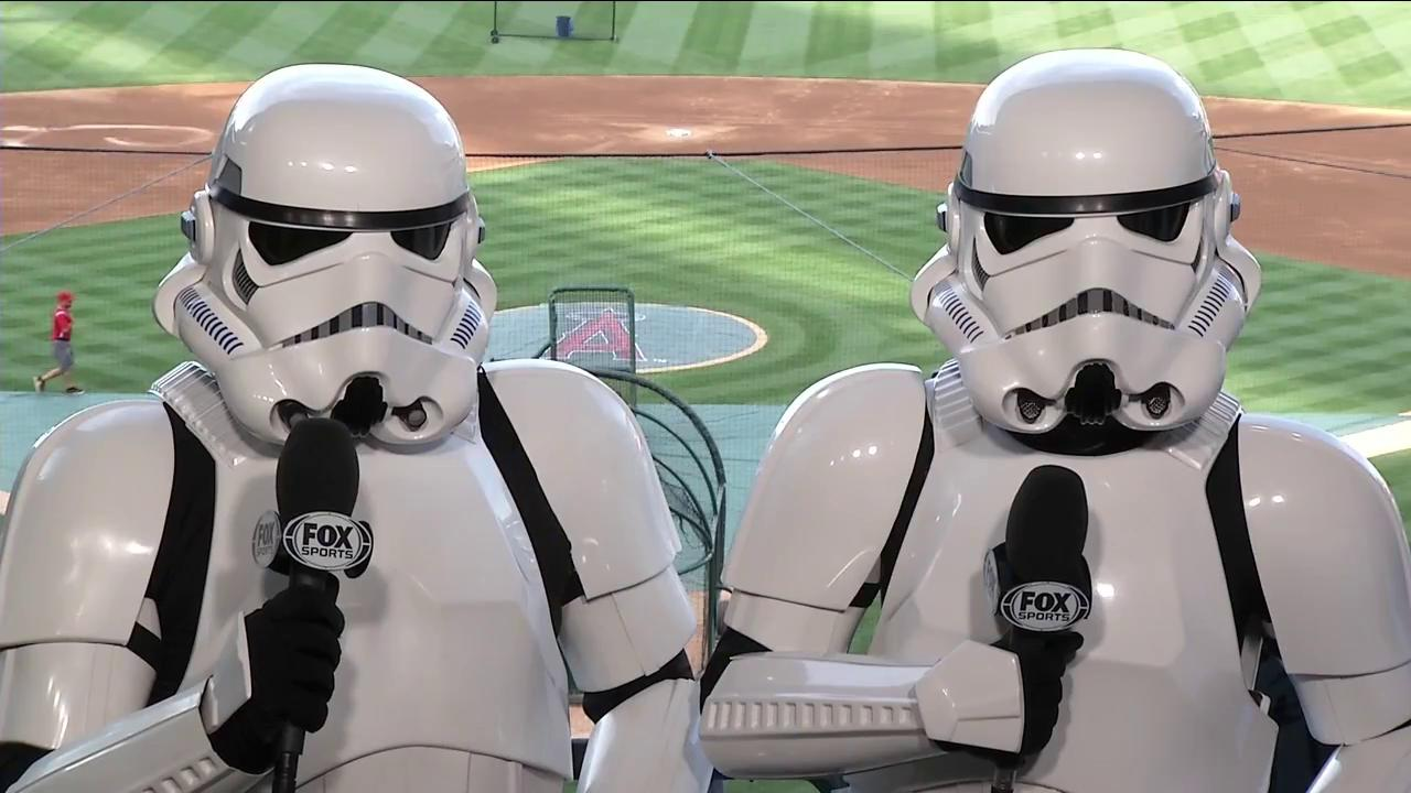 The force is strong in the booth tonight #StarWarsNight @Angels https://t.co/VU4nA7EOQN